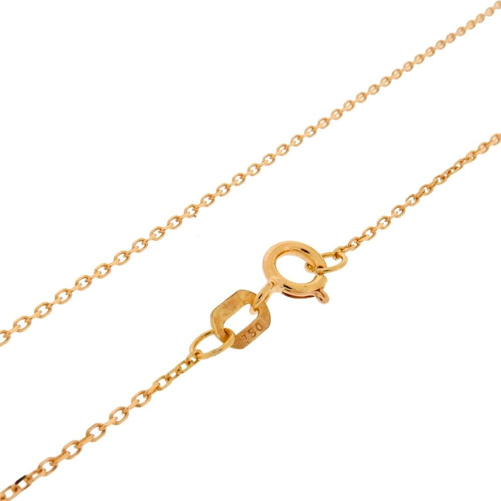 e105c17aeb70d corrente malha cadeado 45cm ouro 18k jóias -. Carregando zoom.
