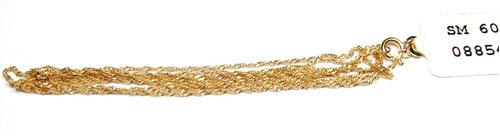 corrente malha singapura com 40cm de ouro 18k