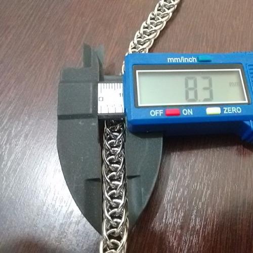 corrente masc. com trançado duplo 8.3 mm em aço maciço 316l