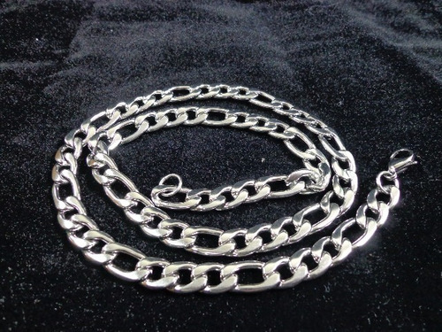 corrente masculina 3x1 aço inoxidável