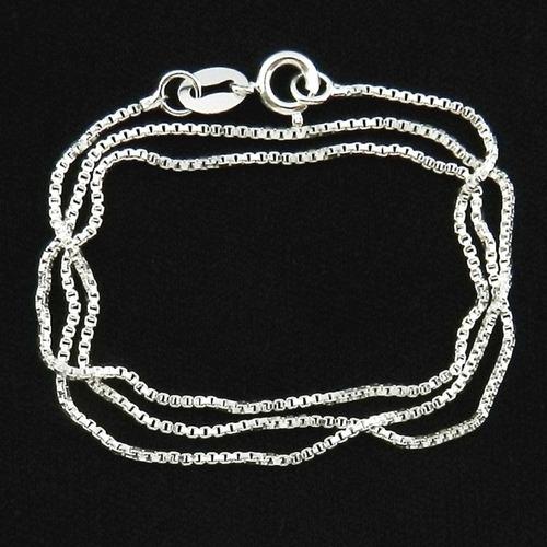 corrente masculina 60cm 1mm folheada prata cr700