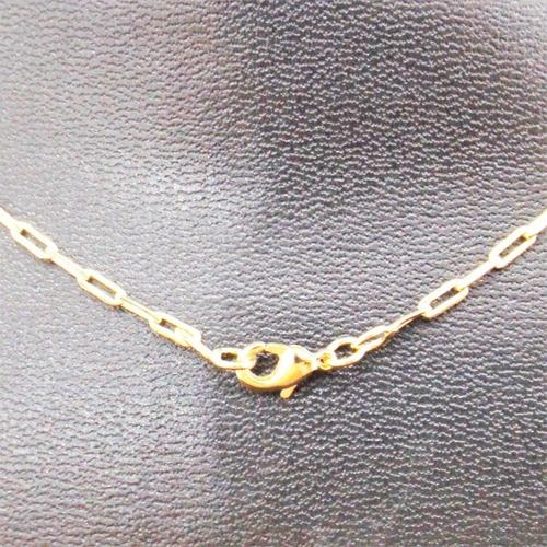 corrente masculina 60cm 2mm e crucifixo tudo folheado ouro