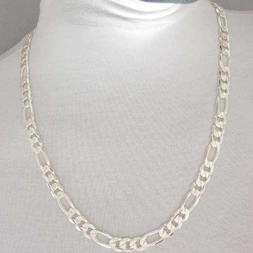 corrente masculina 70cm 1cm largura folheada prata cr375