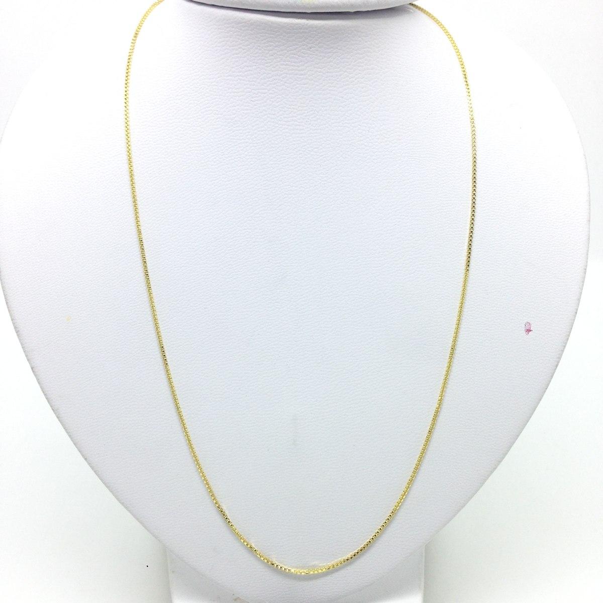 73c55ac1edc73 Corrente de ouro 18k veneziana 1mm com 70cm t