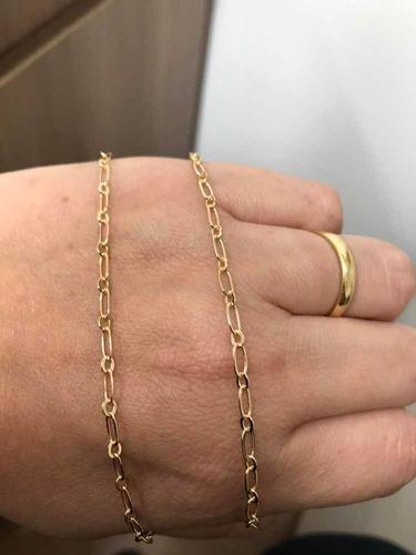 corrente masculina americana banhada a ouro 18k 60 cm