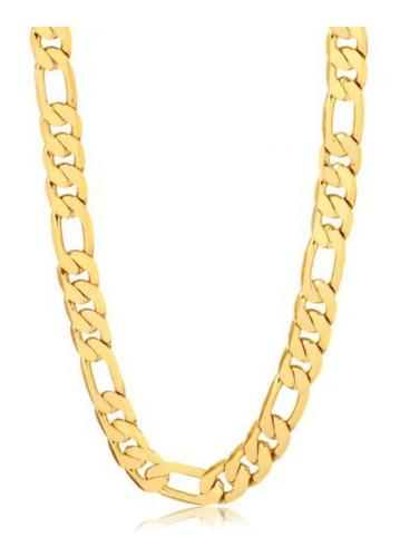 corrente masculina banhada a ouro com garantia ref. qm18c