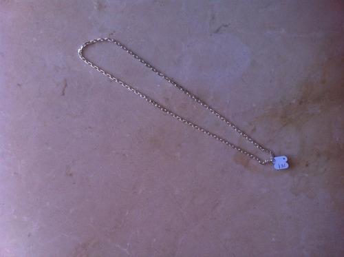 corrente masculina cadeado 4mm prata 925 50 cm