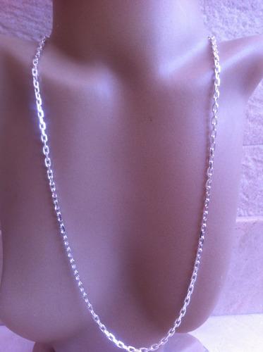 corrente  masculina cadeado 4mm prata 925  60 cm cx veludo