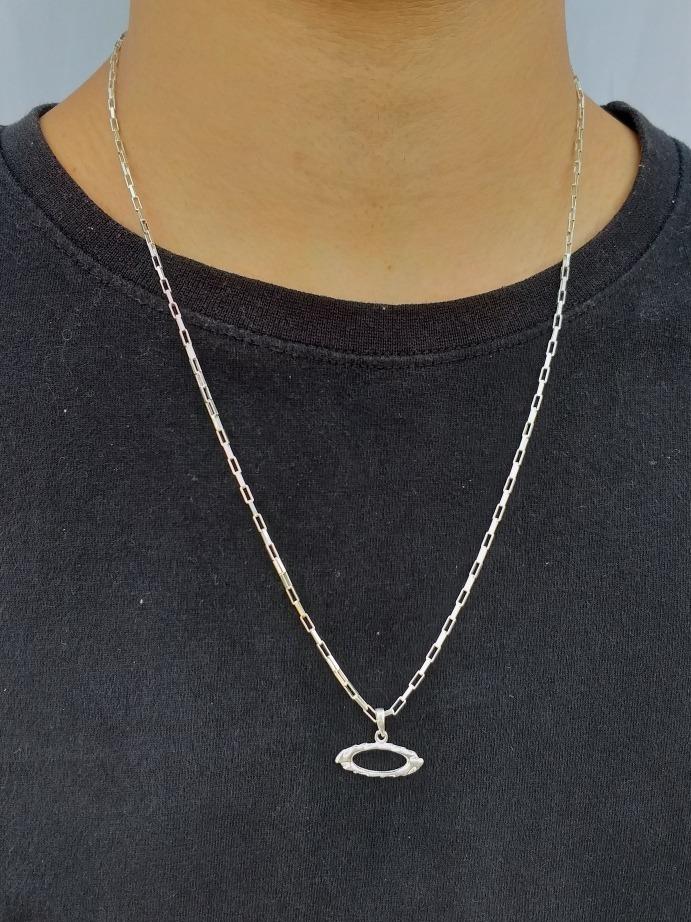 ba8484d1e1f corrente masculina cartier com pingente oakley prata 925. Carregando zoom.
