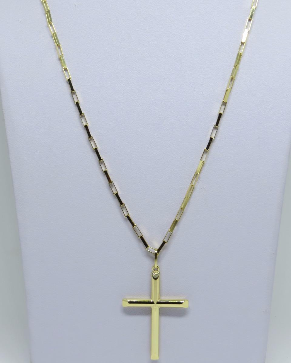 6fc730658dd corrente masculina cartier grossa 70cm + crucifixo ouro 18k. Carregando  zoom.