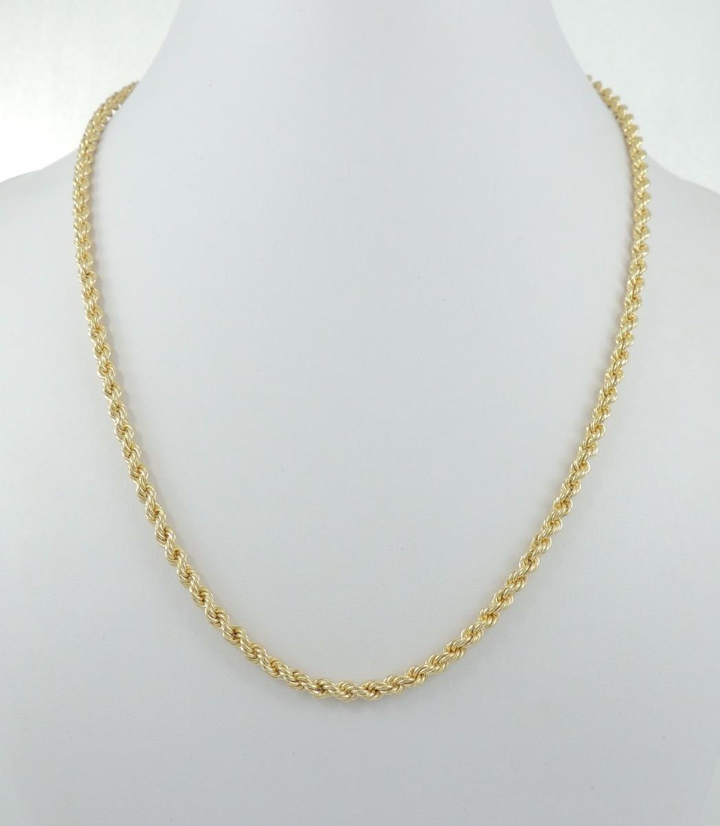 ee3b2475df6 corrente masculina corda 50 cm ouro 18k 750 cordão baiano. Carregando zoom.