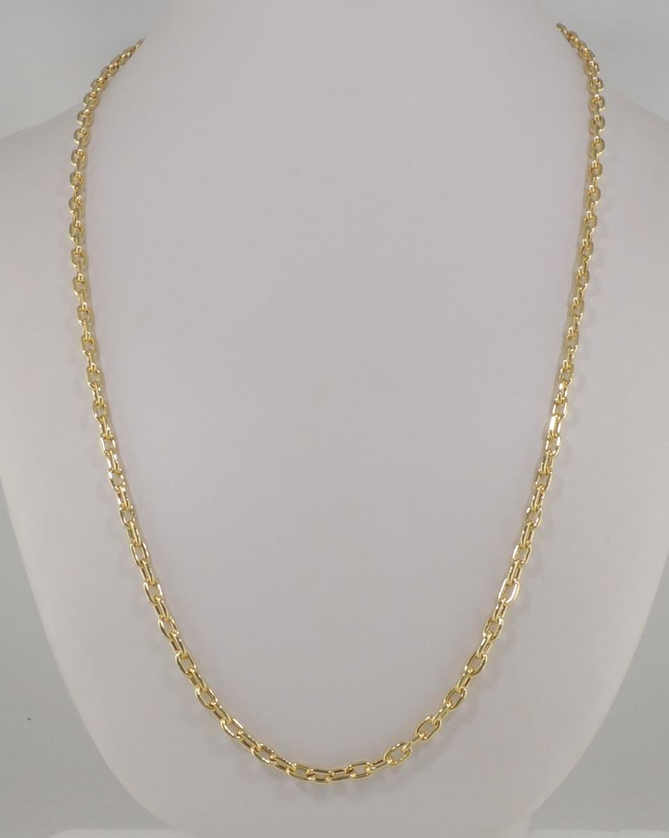 6d3559028e0 corrente masculina cordão cadeado 4 mm 60 cm ouro 18k 750. Carregando zoom.