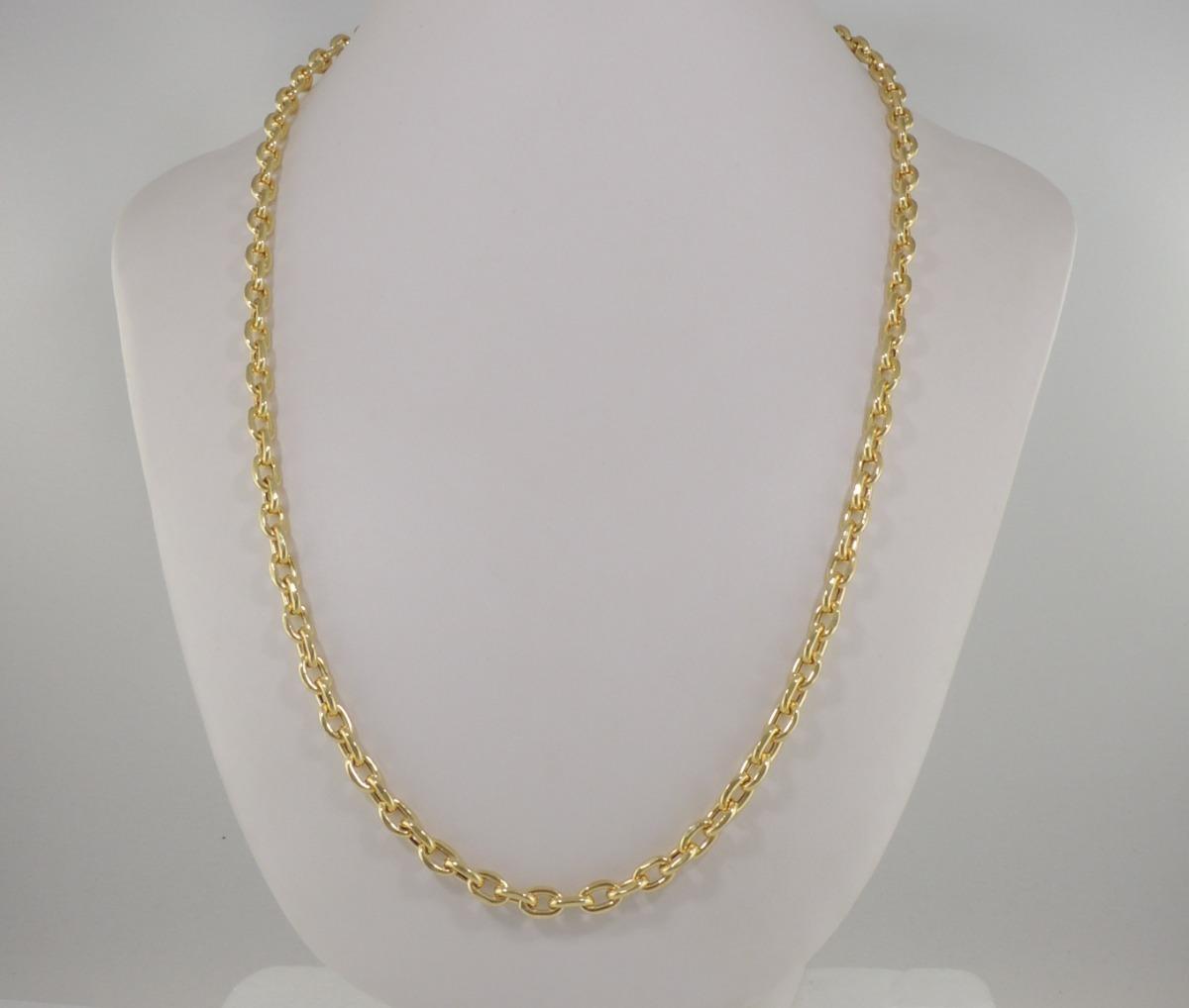 65059877a6e corrente masculina cordão cadeado 60 cm ouro 18k 750 5 mm. Carregando zoom.