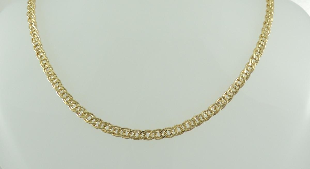 c41952e88a654 corrente masculina cordão grumet duplo 60 cm ouro 18k 750. Carregando zoom.