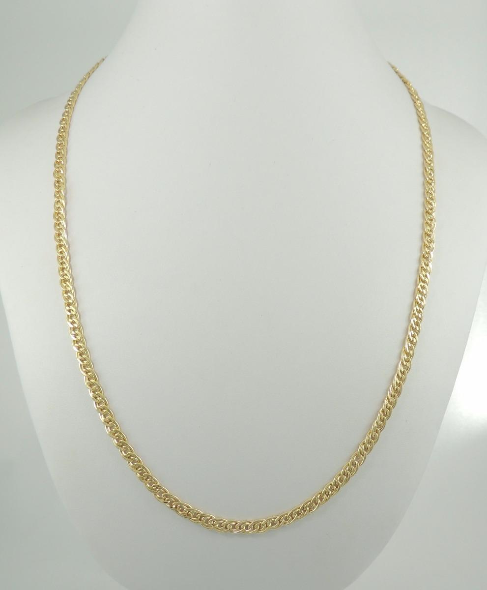 17434903db192 corrente masculina cordão grumet duplo 70 cm ouro 18k 750. Carregando zoom.