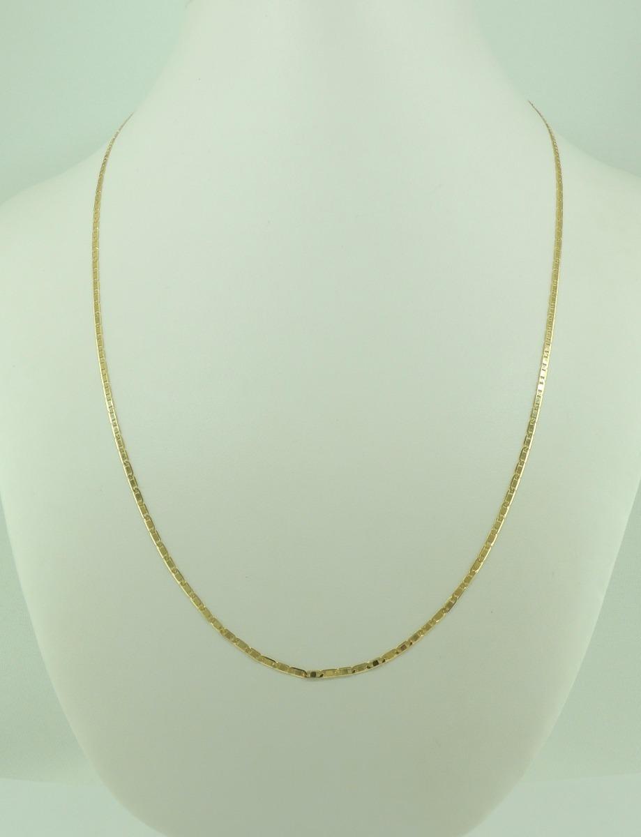 156fa91cc2b40 corrente masculina cordão piastrine 50 cm ouro 18k 750 1,8. Carregando zoom.
