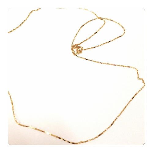 corrente masculina de 60cm e 1.6grs ouro 18k 12x sem juros