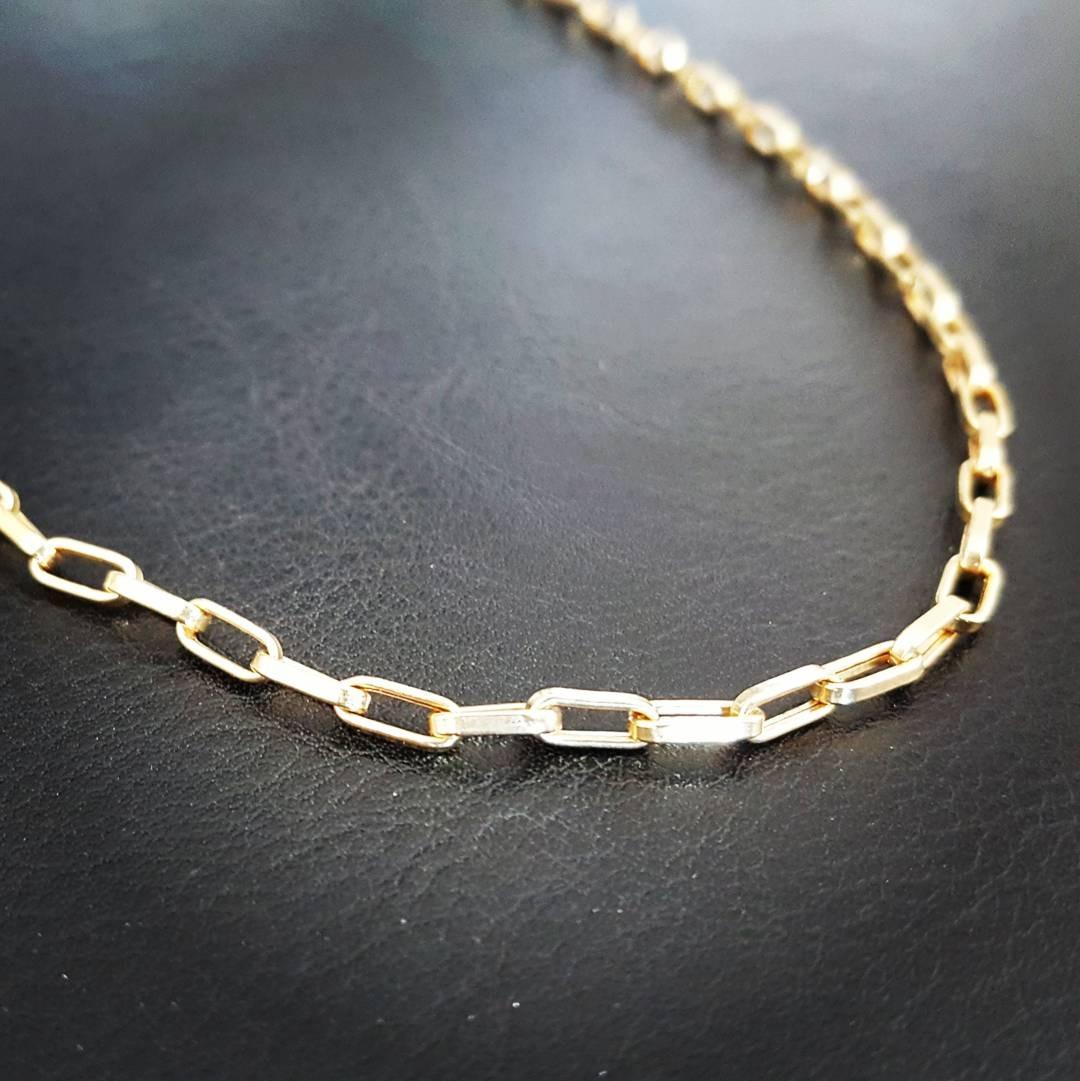 c23be78a1c2 corrente masculina de ouro 18k modelo cartier 60 cm. Carregando zoom.