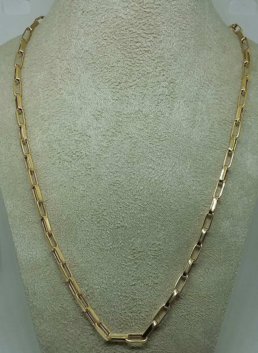 b07a5175ebd corrente masculina em ouro 18k cartier 60cm 4mm  . Carregando zoom.