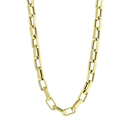 corrente masculina em ouro 18k cartier oca 70 cm 2.2mm *