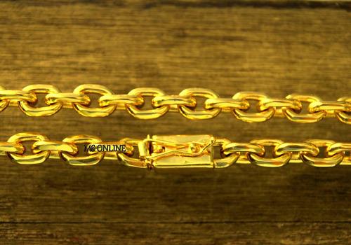 corrente masculina grossa 11mm banhada a ouro 18k pesada