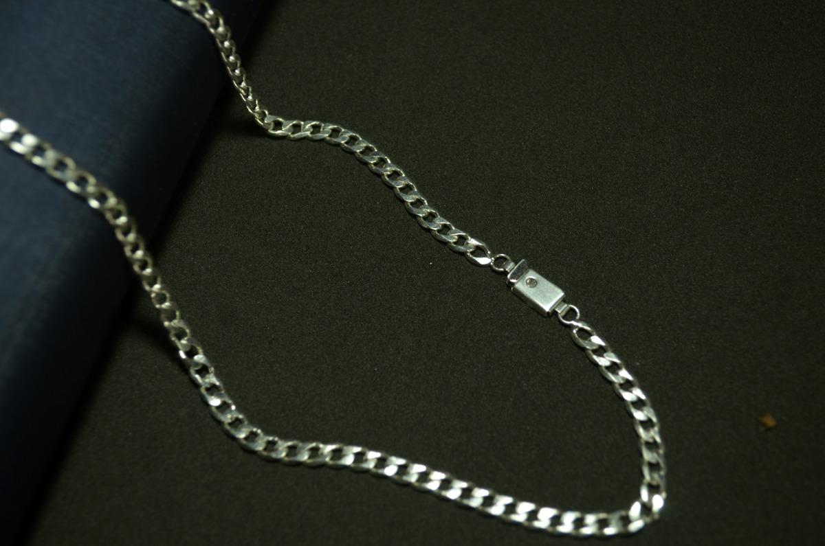 b10ab9ea3a5 corrente masculina grumet banhada prata 925 fecho gaveta. Carregando zoom.