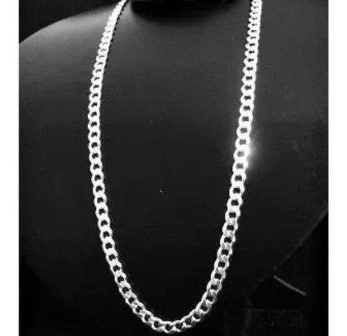corrente masculina italiana grumet 60cm 5,5mm com pingente modelo diamante, tudo em prata 925 original