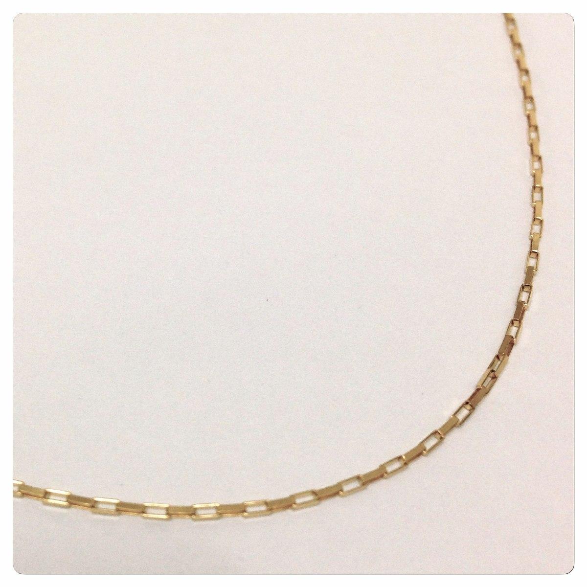 2eb94e73e05 corrente masculino de 50 cm 1.20 grs 1 mm todo de ouro 18k. Carregando zoom.
