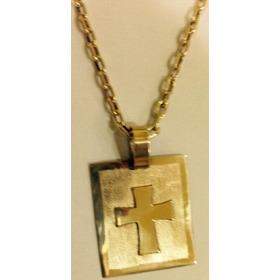 Corrente Modelo Cartier (cadeado) Oca Em Ouro 18 Kl 750.