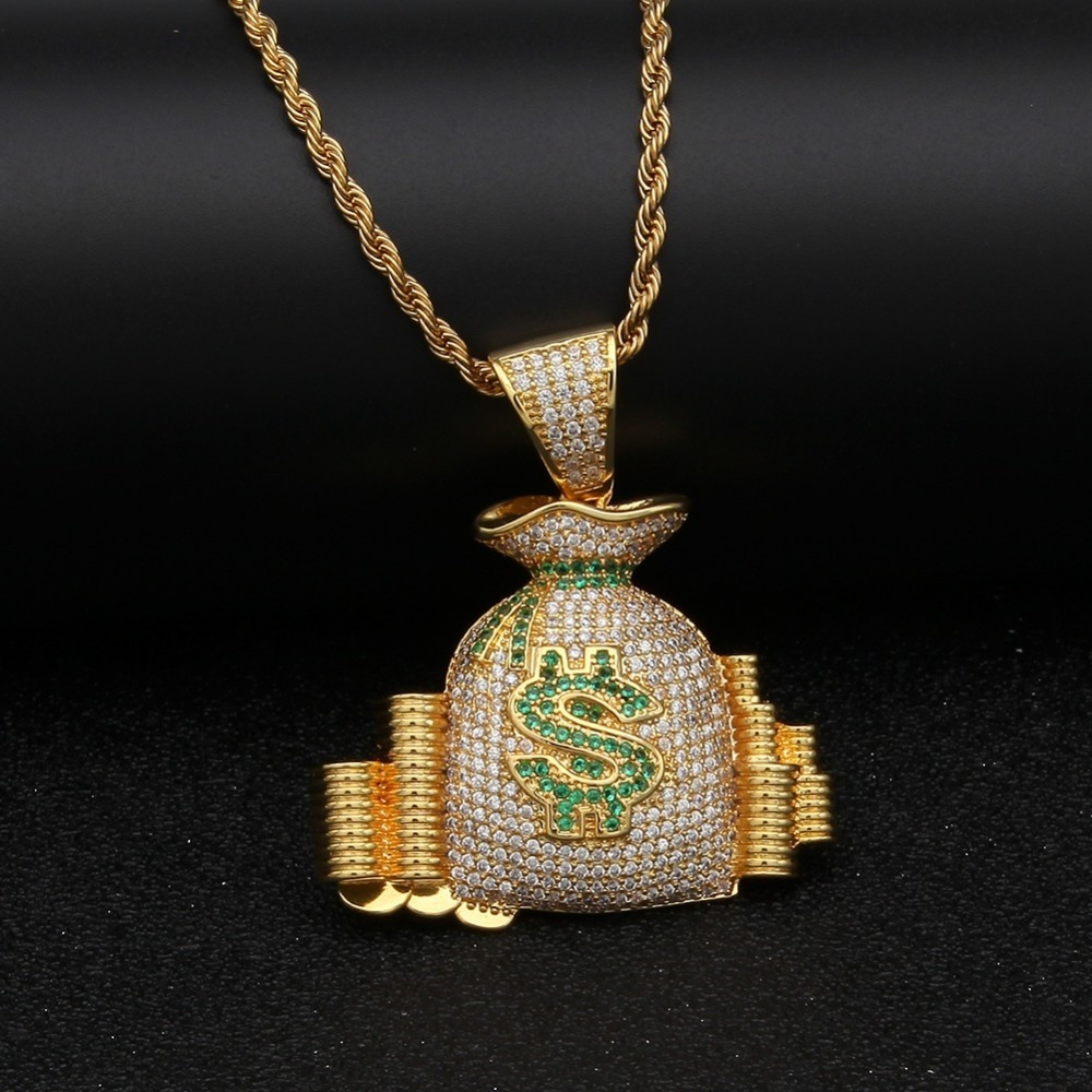 f78a555ff1c Corrente Money Hip Hop Rapper Mc Banho 18k Zirconia - R  239