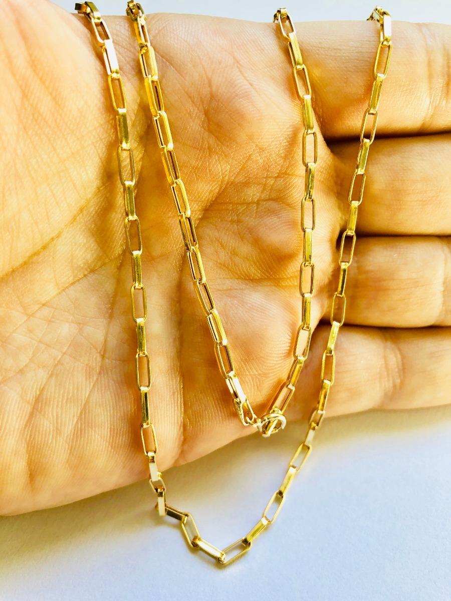 4a0630f5d73 corrente oca alongada 60cm masculino ouro 18k cordão. Carregando zoom.