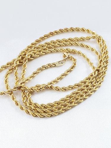 corrente ou cordão baiano ou torcido de ouro amarelo unissex