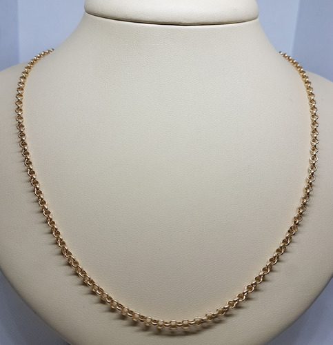 corrente ouro 18k 750 portuguesa media 50cm 4,85g impecavel