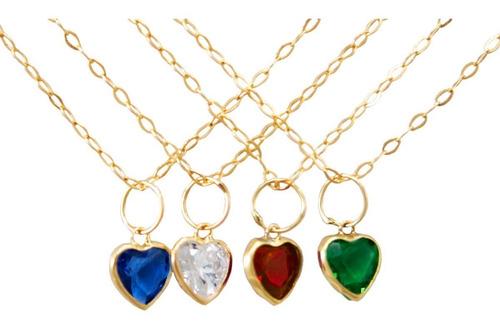 corrente ouro 18k feminina 45cm c/coração 5mm