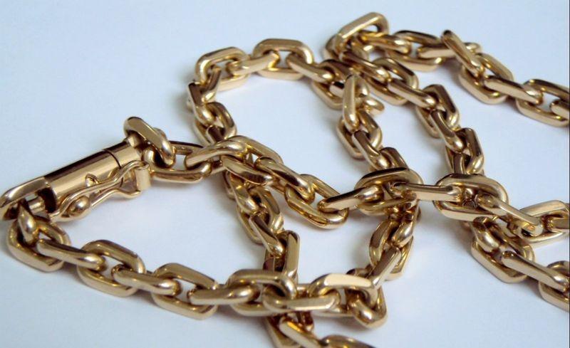 a03849f8b8c corrente ouro 18k masculina maciça 70cm cadeado cartie 30grs. Carregando  zoom.