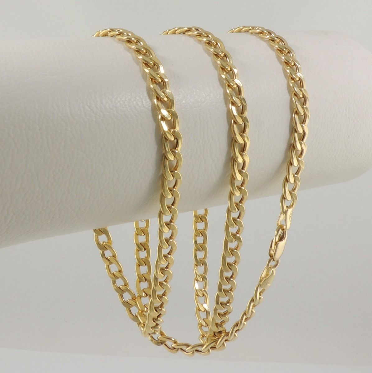 09ade02f88bf9 Carregando zoom... ouro colar corrente. Carregando zoom... corrente  masculina cordão grumet 4 60 cm ouro 18k 750 colar