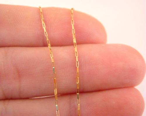corrente ouro18k maciça cartie quadrada 45cm 4grs f/gaveta