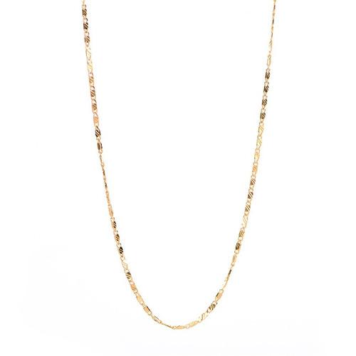 corrente piastrine masculina folheada ouro 60cm cordão fino