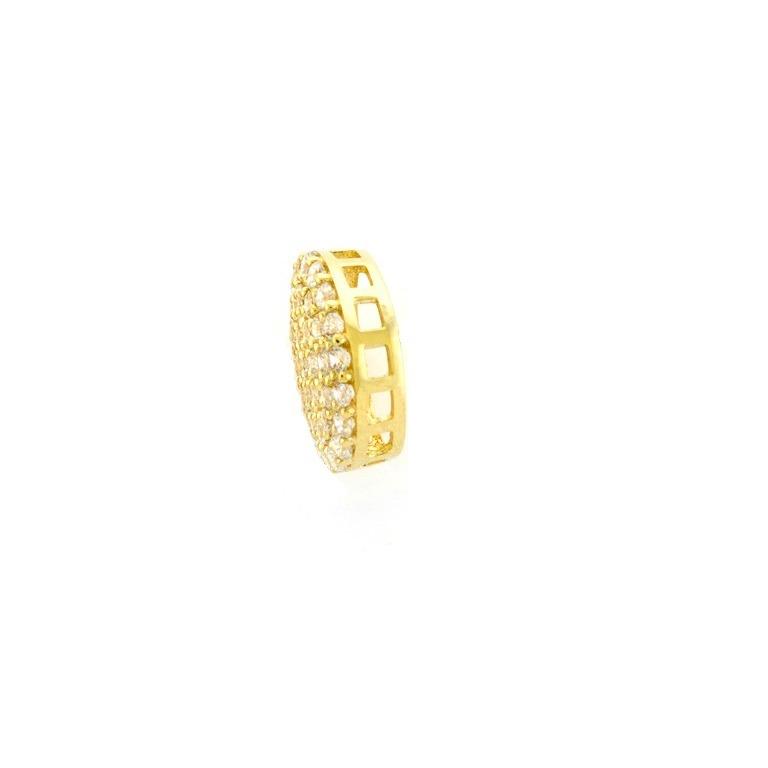 d12e545377270 Corrente + Pingente + Brinco De Ouro18k Pave 9mm Viagold Q39 - R  1.189,90  em Mercado Livre