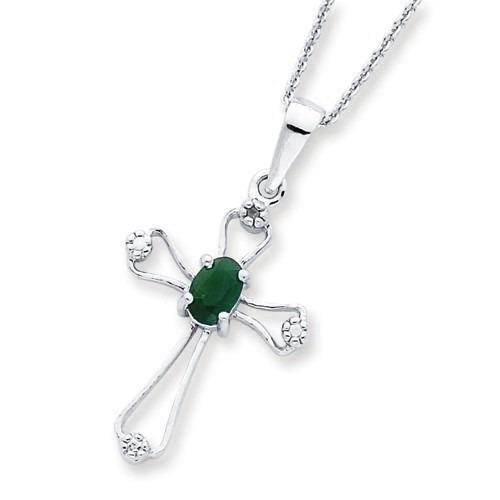ac43e70eb6183 Corrente Pingente Cruz Em Ouro 18k Esmeralda E Diamantes - R  2.412 ...
