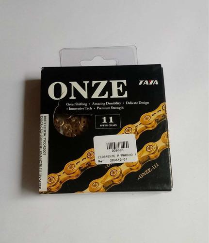 corrente p/marcha 11-velocidade dourada super taya 008606