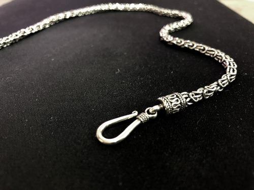 corrente prata 925 de bali (48cm x 3,5mm espessura)