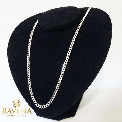 corrente prata cordão e pulseira masculina prata 925