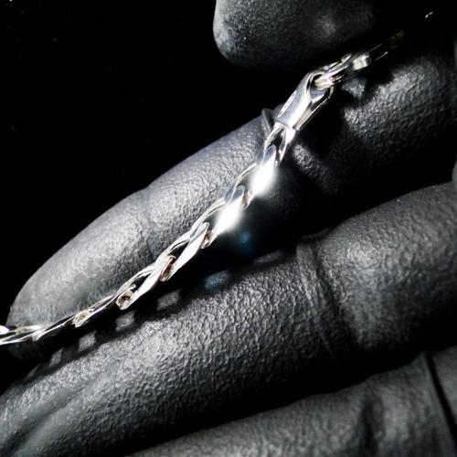 corrente prata cordão masculino pulseira e pingente prata925