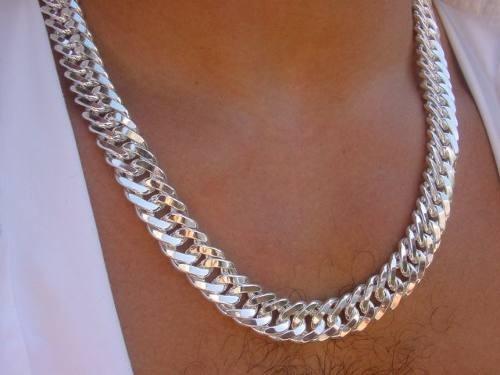 corrente prata jóias