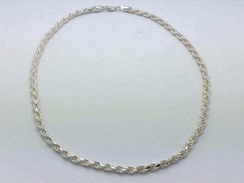 corrente prata maciça modelo cordão baiano promoção