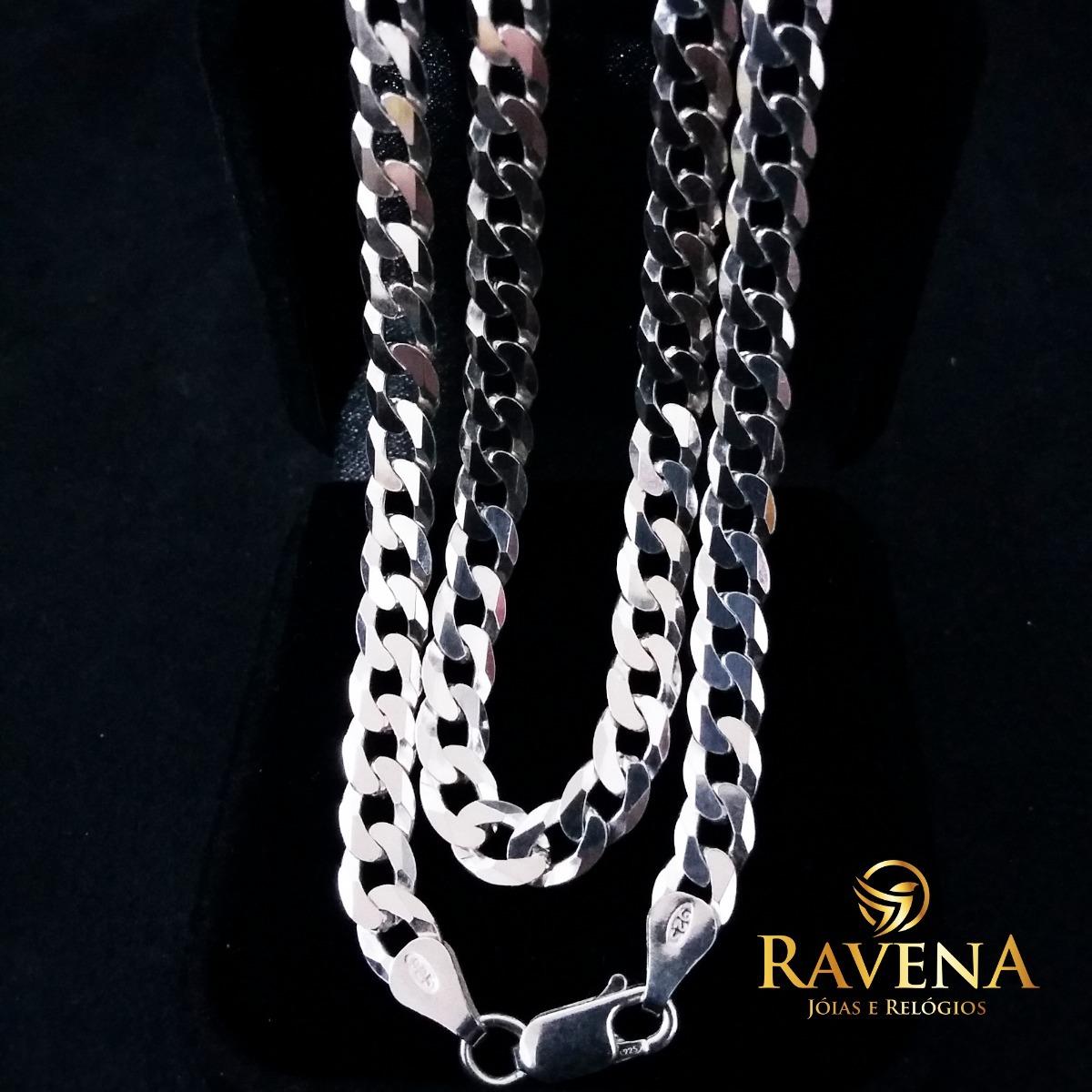 9309d43b2a corrente prata masculina cordão 70x6mm prata 925. Carregando zoom.