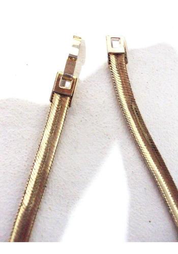 corrente rabo de cobra folheado à ouro 18k