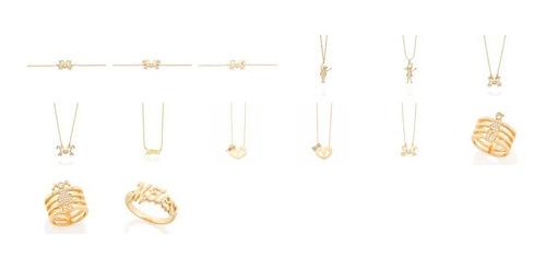 corrente rommanel 40cm folheado ouro 531097 fio cingapura