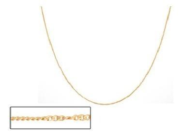 corrente rommanel 50cm folheado ouro 530695 fio grumet